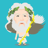 Zeus charakter Fotografia Stock