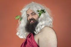Zeus enojado Imagens de Stock