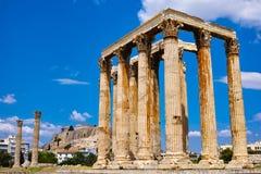 zeus för greece olympiatempel Fotografering för Bildbyråer