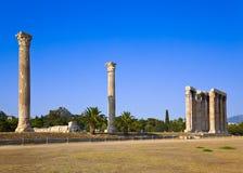 zeus för tempel för athens kulllycabettus royaltyfria bilder