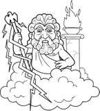 Zeus gaat bliksem schieten Stock Afbeeldingen