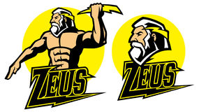 Zeus god mascot Stock Image