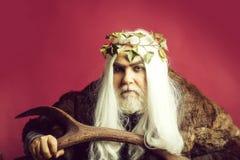 Zeus-god met geweitakken stock foto's