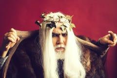 Zeus-god met geweitakken royalty-vrije stock foto