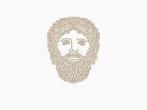Zeus logo. Face logo design template. king Royalty Free Stock Photography