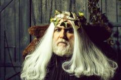 Zeus na peruca branca fotografia de stock