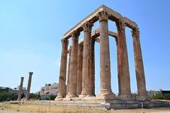 zeus olympique de temple Image libre de droits