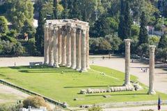 zeus olympique de temple Photo stock
