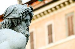 Zeus statua cropped w Bernini fontannie, piazza Navona, Rzym Ja Obraz Royalty Free