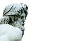 Zeus statua cropped w Bernini fontannie, piazza Navona, Rzym Ja Zdjęcia Stock