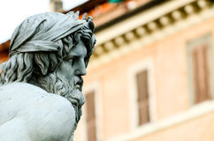 Zeus Statue cropped in Bernini's Fountain, Piazza Navona, Rome I Royalty Free Stock Image