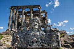Zeus Temple, Aizonai, Kutahya, Turchia immagini stock libere da diritti