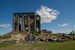 Zeus Temple, Aizonai, Kutahya, Turchia immagine stock