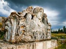 Zeus Temple, Aizonai, Kutahya, Turquie images libres de droits