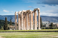 Zeus temple in Athens, Greece Stock Images