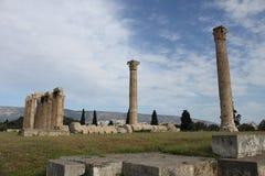Zeus Temple Athens - Grekland Fotografering för Bildbyråer