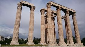 Zeus temple in Athens Stock Images
