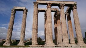 Zeus temple in Athens Royalty Free Stock Images