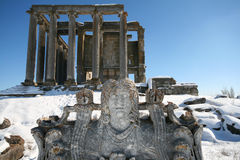 Zeus Temple av Aizanoi Royaltyfria Foton