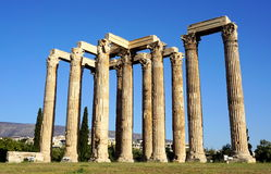 Zeus temple. And Corinthean columns in Athens, Greece Stock Image