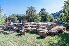 Zeus Temple Olympia Greece Royalty Free Stock Photography