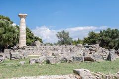 Zeus Temple Olympia Greece Stock Photos