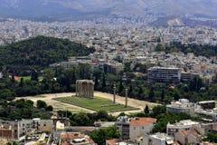 Zeus Temple på Aten Zeus Temple på Aten på Grekland royaltyfri fotografi