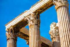 Zeus temple ruins in Athens Stock Photos
