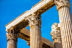 Zeus temple ruins in Athens Stock Photos