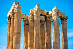 Zeus temple ruins in Athens Royalty Free Stock Image