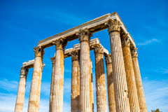 Zeus temple ruins in Athens Stock Photo