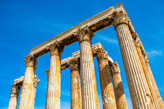Zeus temple ruins in Athens Stock Images