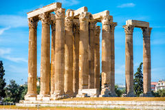 Zeus temple ruins in Athens Stock Photography