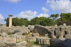 Zeus van Olympia Stock Afbeeldingen