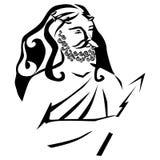 Zeus. Vector silhouette on a white background Stock Photos