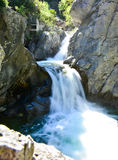 Zeus waterfall in the Olymp Mountain in Greece Stock Image