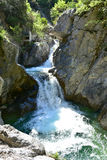 Zeus waterfall in the Olymp Mountain in Greece Royalty Free Stock Photography