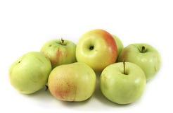 Zeven appelen Stock Foto's