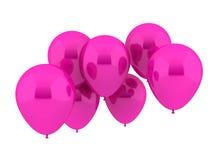 Zeven Ballons van de Partij in roze Kleur Stock Foto's