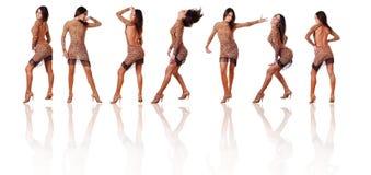 Zeven dansers Stock Foto's