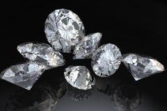 Zeven diamanten Stock Afbeeldingen