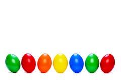 Zeven gekleurde eieren Royalty-vrije Stock Afbeeldingen