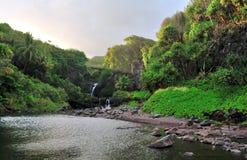 Zeven Heilige Pools van Ohio, Maui, Hawaï royalty-vrije stock afbeeldingen