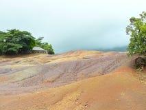 Zeven kleurenland Mauritius royalty-vrije stock fotografie