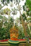 Zeven leidden serpentkoning of koning van nagastandbeeld in Kamchanod FO Royalty-vrije Stock Foto's