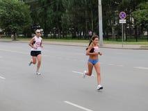 Zevenentwintigste Siberische Internationale Marathon Stock Foto's