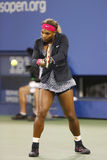 Zeventien keer Grote Slagkampioen Serena Williams vóór eerste ronde gelijke tegen Taylor Townsend bij US Open 2014 Stock Afbeeldingen