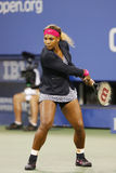 Zeventien keer Grote Slagkampioen Serena Williams vóór eerste ronde gelijke tegen Taylor Townsend bij US Open 2014 Stock Foto's