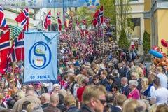 Zeventiende van kan, de nationale dag van Noorwegen Royalty-vrije Stock Fotografie