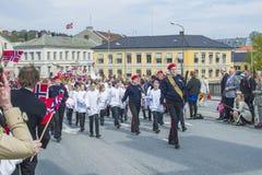 Zeventiende van kan, de nationale dag van Noorwegen Royalty-vrije Stock Afbeeldingen